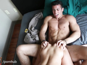 Asian sexy girl does tight blowjob and gets fucked by strong white guy