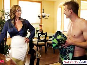 Juicy tight blonde Eva Notty seduces her stepson and enjoys hardcore fuck